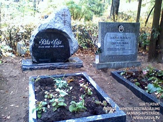 Laukakmens kapu piemineklis ar pulētu priekšējo sānu