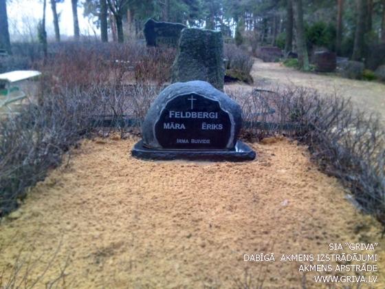 Laukakmens kapu piemineklis ar pulētu sānu