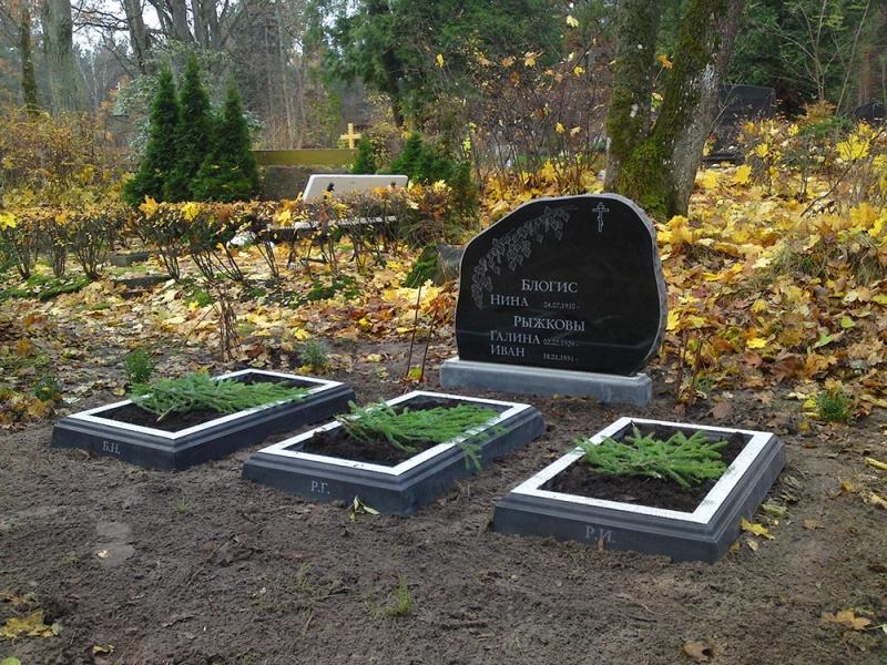 Mazcenas kapu pieminekļi un apmales
