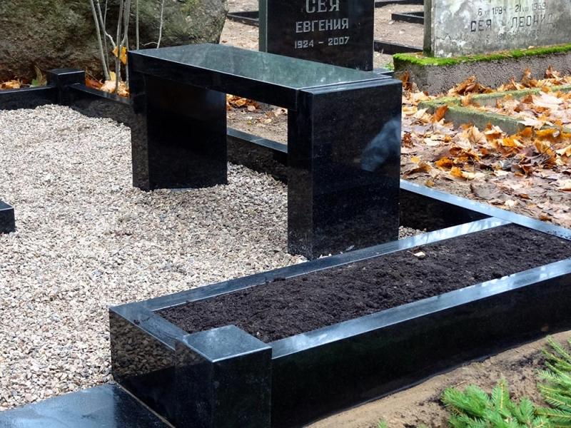 Granīta kapu soliņš