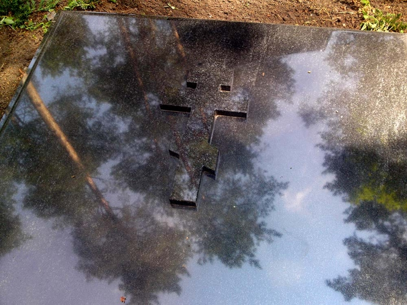 Рамка под могилку с крестом