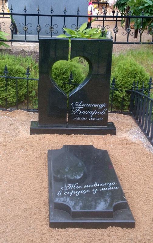 Granīta kapu plāksne no monolīta granīta