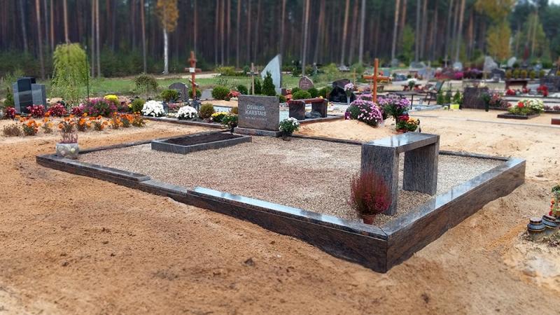 Уход за местом захоронения из Шведского гранита